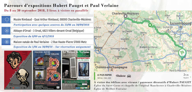 Expositions Hubert PAUGET : illustrations poesies de Paul Verlaine